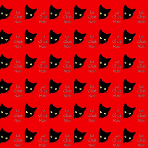 Peek-a-Boo Black Cats - red - Le Chat Noir (small)