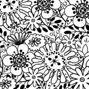 Bright Bouquet-B&W-Large