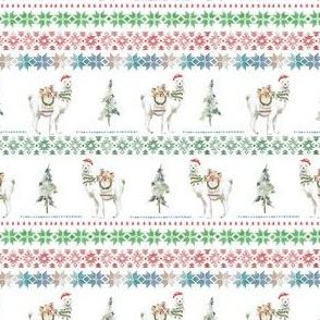 """4"""" Christmas Llama Sweater Print"""