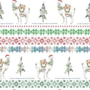 """8"""" Christmas Llama Sweater Print"""
