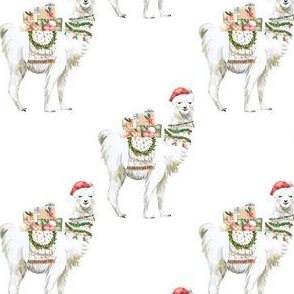 "4"" Christmas Llama"
