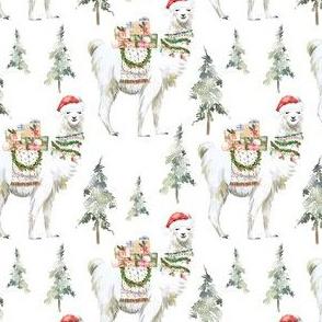 "4"" Winter Christmas Llama"
