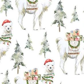 "8"" Winter Christmas Llama"