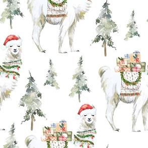 "18"" Winter Christmas Llama"