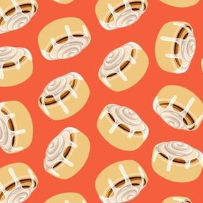 Cinnamon roll - toss - orange - LAD19