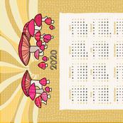 Mushrooms in the Morning 2020 Tea Towel Calendar