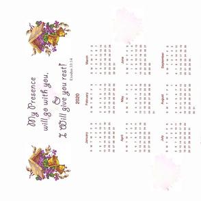 Tea Towel 2020 calendar sidewise