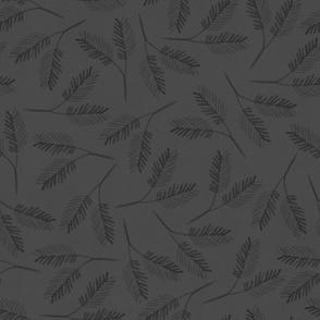 Winter Flora Pines { gray }