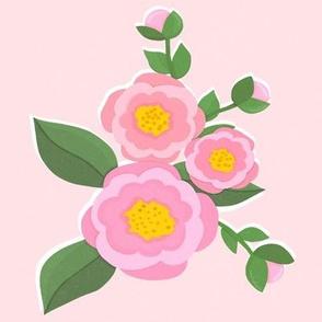 Garden Delights on Pink