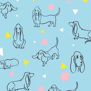 Colorful Bassets Pattern