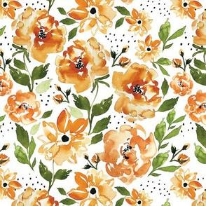 Halloween Floral ORANGE C