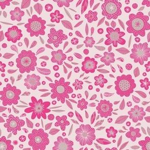 Paddington flowers pink small