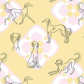 Saluki Pattern (Yellow Background)