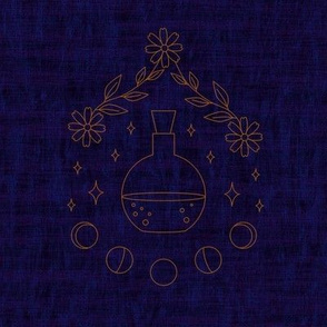 Potion Embroidery Swatch - Blue