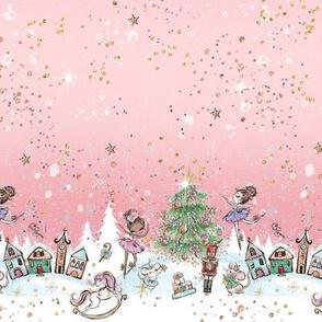 Nutcracker Ballet blush pink Christmas