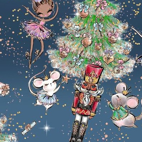 Nutcracker Ballet Sky blue Christmas