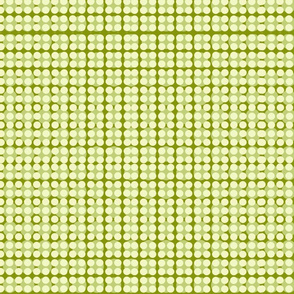 Modern Floral double dot-green