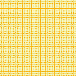 Modern Floral double dot-yellow