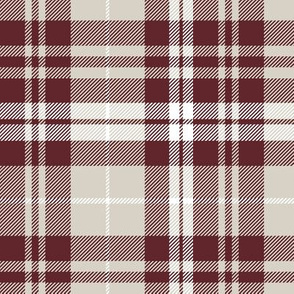 fall plaid || burgundy and tan  C19BS