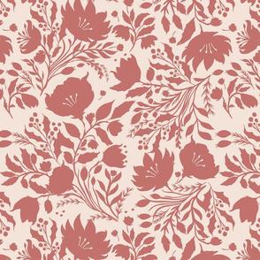 Monochrome Floral - Dusky Rose