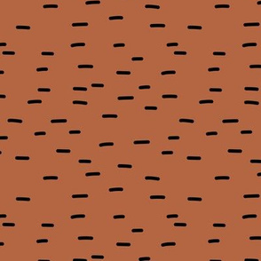 I see stripes abstract Scandinavian style lines and minimal strokes winter copper rust black