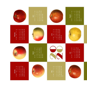 yummy apple 2020 calendar teatowel
