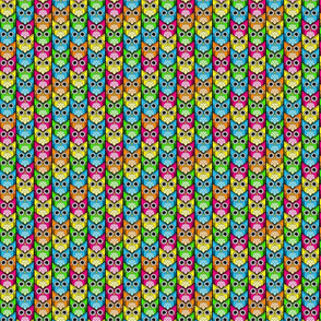 woodland owl chevron bright colors micro