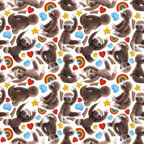Rainbow sloths!