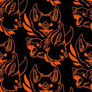 Ornate bats (black/orange)