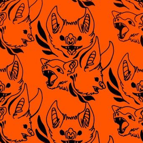 Ornate Bats (orange/black)
