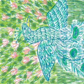 Folk Art Peacock
