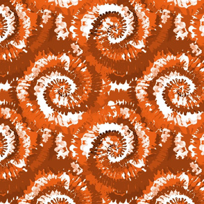 tie dye fabric -tie dye, hippie, hippy, trippy, trendy, dye, tie dyed fabric, tie dye swirl - burnt orange