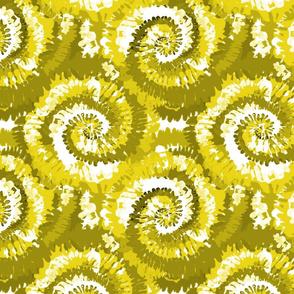 tie dye fabric -tie dye, hippie, hippy, trippy, trendy, dye, tie dyed fabric, tie dye swirl - yellow