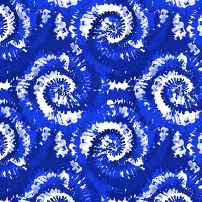 tie dye fabric -tie dye, hippie, hippy, trippy, trendy, dye, tie dyed fabric, tie dye swirl - brilliant blue