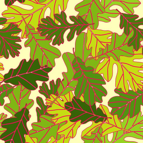 Oak Leaves - Warm