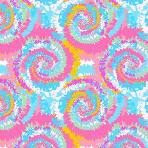 tie dye fabric -tie dye, hippie, hippy, trippy, trendy, dye, tie dyed fabric, tie dye swirl - pastel