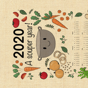 Souper 2020 tea towel
