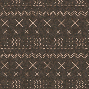Modern brown mud cloth