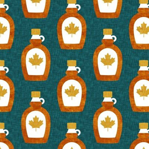 Maple Syrup - Syrup bottle - gold and teal - LAD19