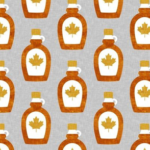Maple Syrup - Syrup bottle - gold and grey - LAD19