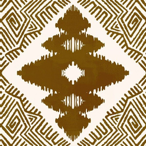 Block Ikat in Raw Sienna