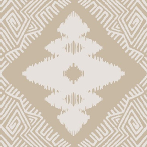 Block Ikat in sand