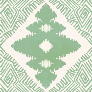 Block Ikat in Sage Green