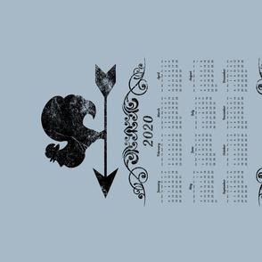 Farmhouse Chickens 2020 Calendar Tea Towel