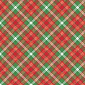 Custom Christmas Light Red and Green Apple Plaid