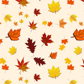 Falling Leaves of Autumn... beige, large
