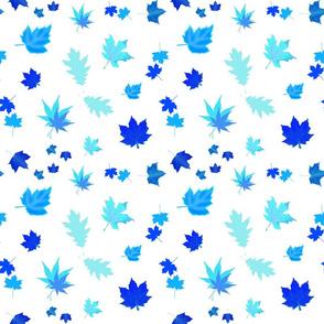 Falling Leaves of Autumn... inverse blue, white, medium