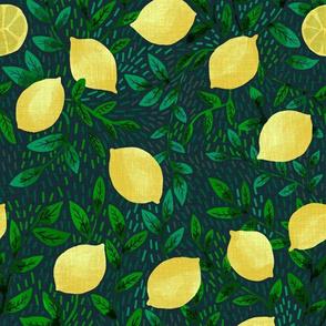 Lemons - Dark Green