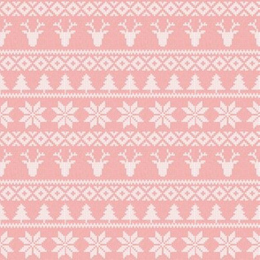 "(4"" scale) fair isle deer (light pink) 