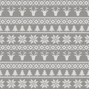 "(4"" scale) fair isle deer (grey) 